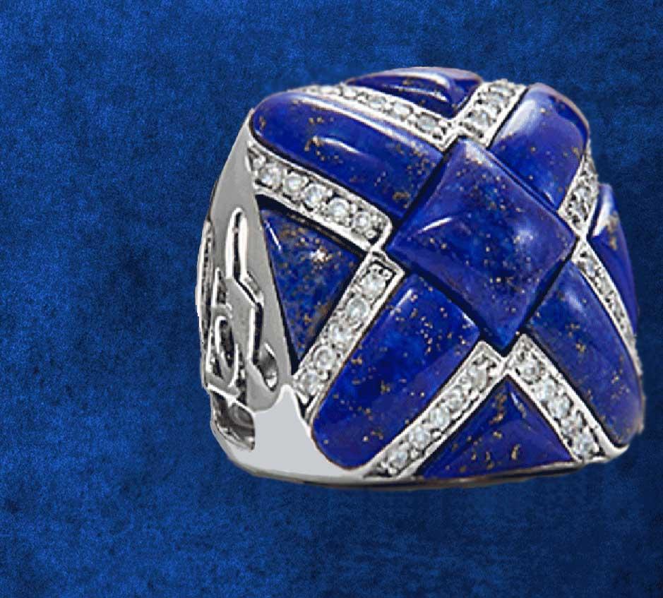 Lapis Lazuli World Designer Rings