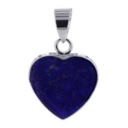 Lapis Lazuli Reversible Heart Charm