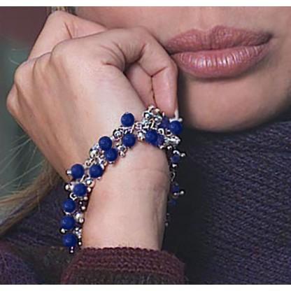 Lapis Lazuli Beaded Chain Bracelet