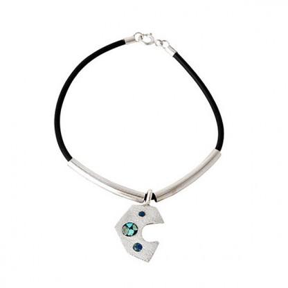 Sterling Silver, Lapis Lazuli and Turquoise Boho Leather Bracelet
