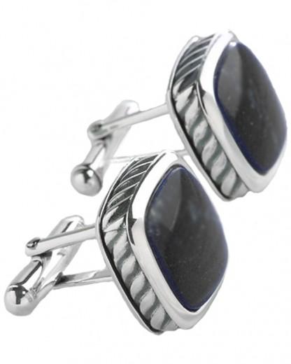 Sterling Silver Rope Cufflinks