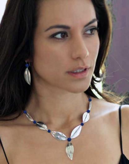Lapis Lazuli Foliage Necklace