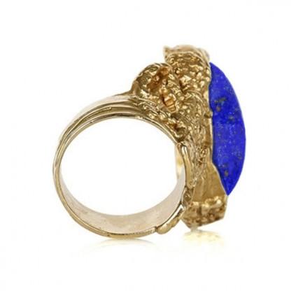 Lapis Lazuli Vermeil Cocktail Ring