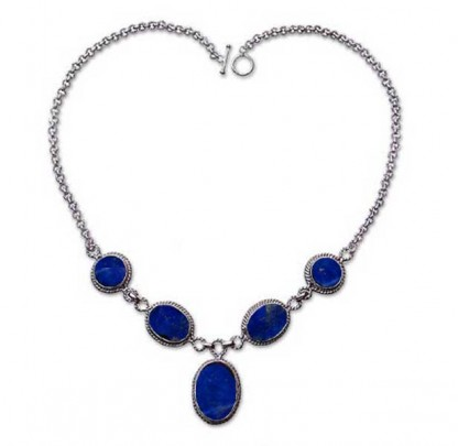 Sterling Silver and Lapis Lazuli Lumiere Semicollar