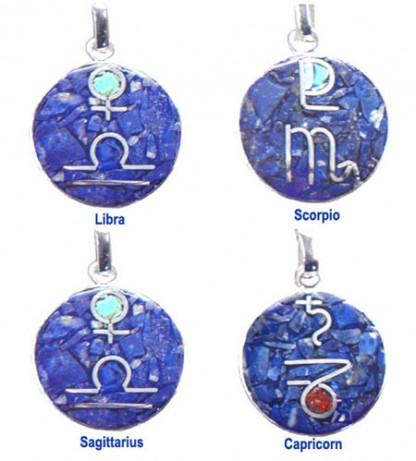 Lapis Lazuli Large Zodiac Charm