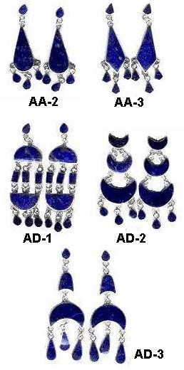 Lapis Lazuli Chandelier Earrings:  Several Styles!