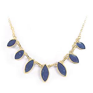Lapis Lazuli and 18K Gold Oval Semicollar