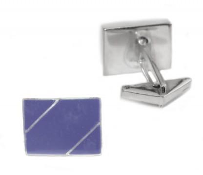 Geometric Shaped Sterling Silver with Inlayed Stone Lapis Lazuli