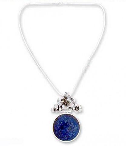 Lapis Lazuli Garden Charm Necklace