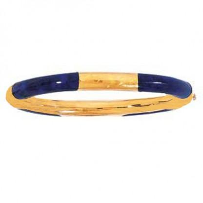 18K Gold and Lapis Lazuli Bangle
