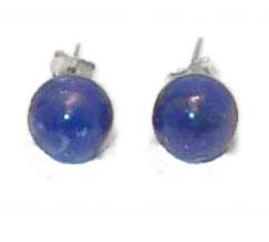 10 mm Bead Sterling Silver Post Earrings