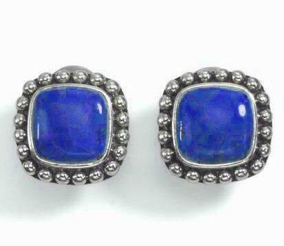 Crown Style Sterling Silver Earrings