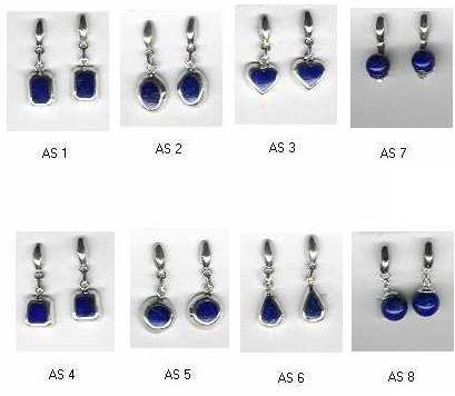Pierced Sterling Silver Hanging Earrings – Lapis Lazuli