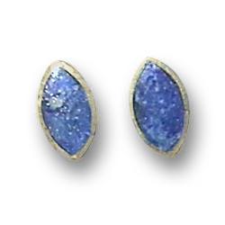 18K Gold Mini Marquise Single Stone Earrings