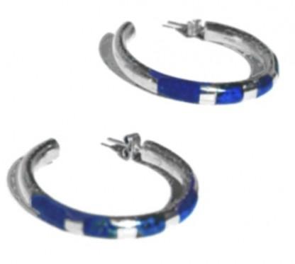 Zebra Hoops Post Earrings