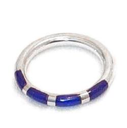 Tubular Band Sterling Silver Ring