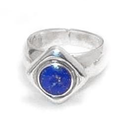 Diamond Chevalier Sterling Silver Ring