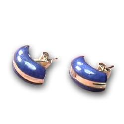 18K Gold Half Moon Earrings
