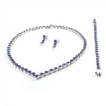 Classic V-Point Square Module Lapis Lazuli Set