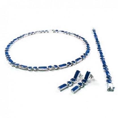 Classic Round and Rectangular Module Lapis Lazuli Set