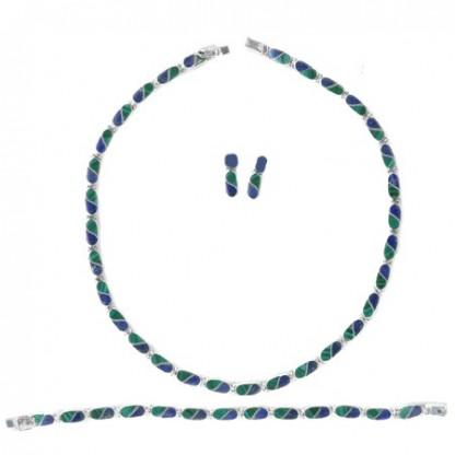 Lapis Lazuli and Malachite S Division Hinge Set