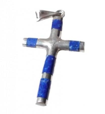 Lapis Lazuli Tubular Cross