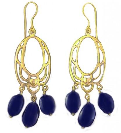 Lapis Lazuli and Vermeil Chandelier Earrings
