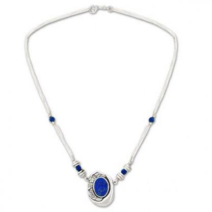 Hidden Treasure Lapis Lazuli Semicollar