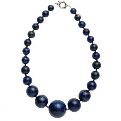 Degrade Lapis Lazuli Bead Necklace