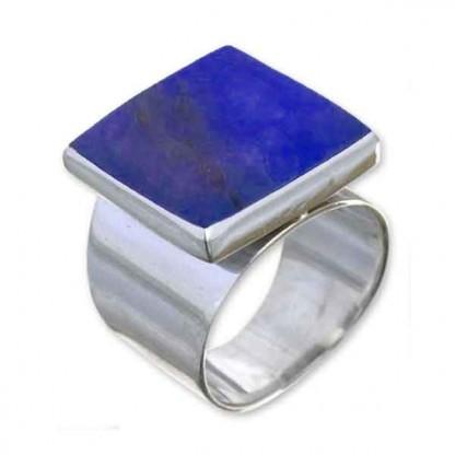 Sterling Silver Meseta Lapis Lazuli Ring