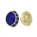 18K Gold and Lapis Lazuli Art Deco Fantasy Earrings