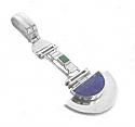 Sterling Silver Art Deco Hinge Charm