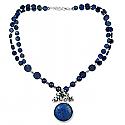 Lapis Lazuli Garden Cluster Beaded Necklace