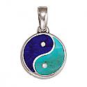 Large Lapis Lazuli and Turquoise Yin Yang Charm