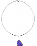Sterling Silver and Lapis Lazuli Abstract Necklace