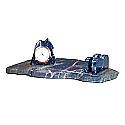 Lapis Lazuli Desk Clock with Letter Holder