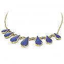 Lapis lazuli and 18K Gold Drops Semicollar