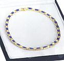 Lapis Lazuli and 18K Gold Hinge Necklace