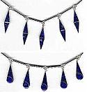 Sterling Silver Semi Collar with Veneered Lapis Lazuli