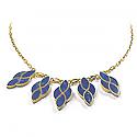 Lapis Lazuli and 18K Gold Garden Fantasy Semicollar