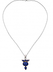 Sterling Silver and Lapis Lazuli Arabesque Necklace