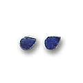 Mini, Single Stone Sterling Silver Post Earrings