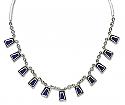Sterling Silver and Lapis Lazuli Inca Semi collar