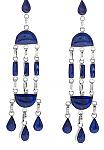 Sterling Silver and Lapis Lazuli Araucan Chandelier Earrings