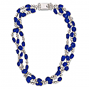 Barroque Sterling Silver and Lapis Lazuli Bead Necklace