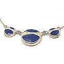 Lapis Lazuli and Sterling Silver Round Module Semicollar