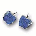 Large Single Stone Post Earrings