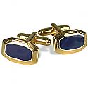 18K Gold and Lapis Lazuli Trapezoid Cuff links