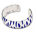 Sterling Silver and Lapis Lazuli Zebra Cuff Bracelet