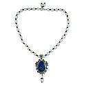 Lapis Lazuli Tear Medallion Beaded Necklace